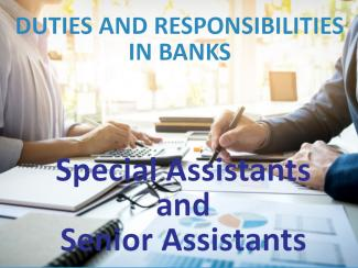 Duties and Reponsibilties of Bank Special Assistants and Bank Senior Assistants