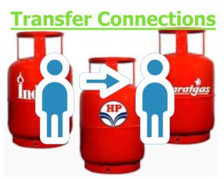 LPG Connection Transfer - Bharatgas, HP and Indane