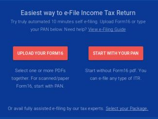SBI Online Income Tax Return Filing Service - SBI e-File