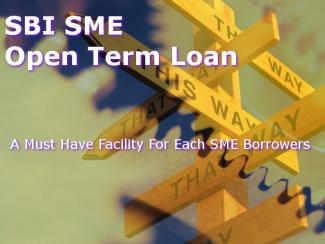 SBI SME Open term Loan